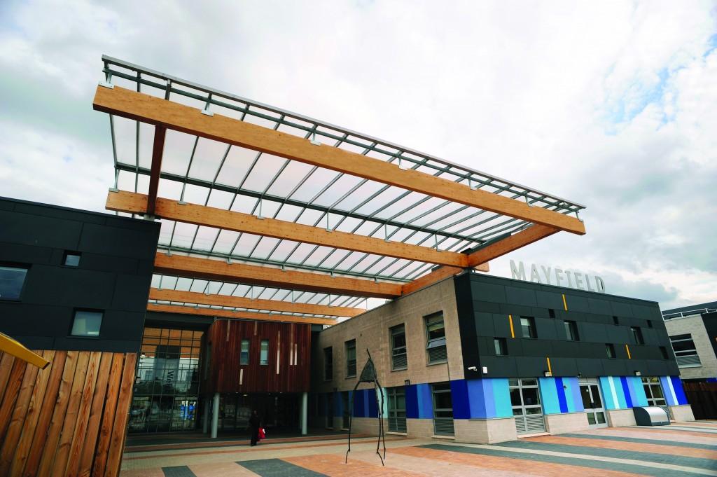 Holte Mayfield Amp Lozells School Glulam Atrium Canopy